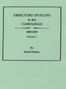 Genealogical sale on popular david dobson books directory of scots in the carolinas 1680 1830 fandeluxe Gallery