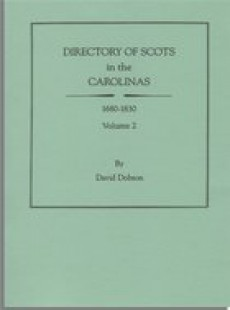 Genealogical the scots and america directory of scots in the carolinas 1680 1830 david dobson fandeluxe Gallery